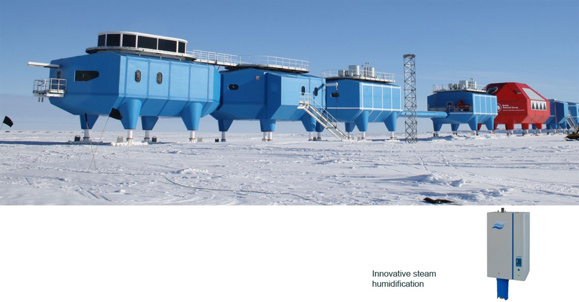 Humidifiers for health in Antarctica