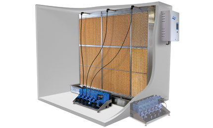 Evaporative humidifier and cooler